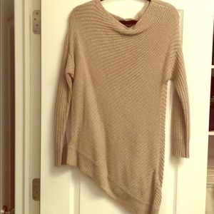 BCBG Asymmetrical Everest Knit Sweater